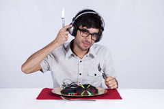 Crazy about music Royalty Free Stock Photography