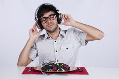 Crazy about music Stock Images