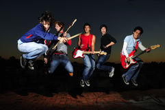 Crazy Musical Band Royalty Free Stock Photography
