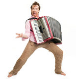 Crazy musician Royalty Free Stock Photo