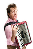 Crazy musician Stock Photography