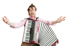 Crazy musician Royalty Free Stock Image