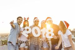 Crazy New Year Party Stock Image