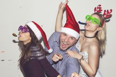 Crazy New Year`s party Stock Photos