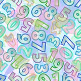 Crazy numbers on modern pastel background. Multifarious presentation of digits. Stock Images