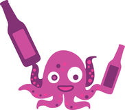 Crazy Octopus Beer Stock Photos