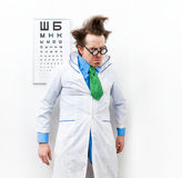 Crazy optometrist Stock Image