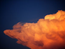 Crazy orange cloud Stock Photos