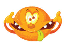 Crazy orange. Illustration of a crazy orange Stock Images