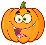 Crazy Orange Pumpkin Vegetables Cartoon Emoji Face Character With Expression Stock Image