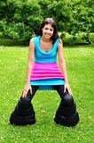 Crazy outfit. Girl in really crazy outfit Royalty Free Stock Photos