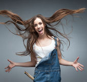 Crazy painter Stock Photography