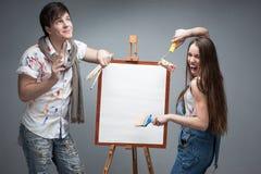Crazy painters Stock Photos