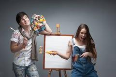 Crazy painters Stock Image