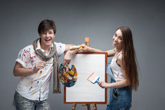 Crazy painters Stock Images