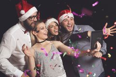 Crazy Party Selfie Royalty Free Stock Photography