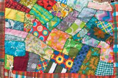 Crazy Patchwork Quilt Stock Images