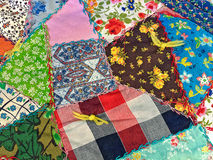 Crazy patchwork quilt Stock Photo