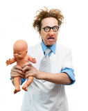 Crazy pediatrician Royalty Free Stock Photos