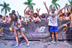 Crazy people in The Color Run china Royalty Free Stock Photography