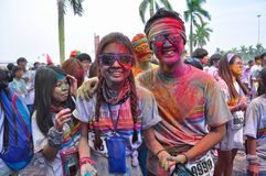 Crazy people in The Color Run china Stock Image