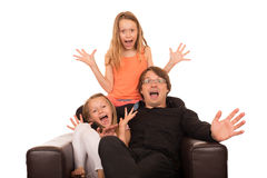 Crazy people crying and laughing Royalty Free Stock Photography