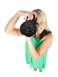 Crazy photographer Stock Images