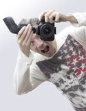 Crazy Photographer Royalty Free Stock Photography