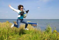 Crazy photographer Stock Photo