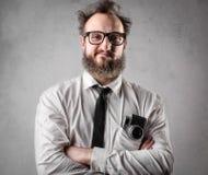Crazy photographer royalty free stock photos
