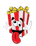 Crazy Pop corn cartoon Royalty Free Stock Photography