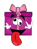 Crazy present box cartoon Stock Photo