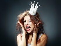 Crazy princess Stock Photo