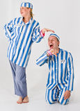 Crazy Prisoners. Theatrical actors posing as crazy prisoners Royalty Free Stock Photos