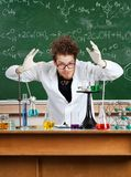 Crazy professor Stock Photos