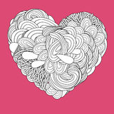 Crazy psychedelic heart Royalty Free Stock Images