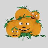 A crazy pumpkin heap .3D. NnIsolate. Easy background remove. Easy combine! For custom illustration contact me royalty free illustration