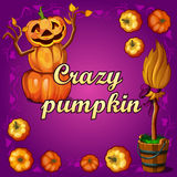 Crazy pumpkin and other witchcraft Stock Photos