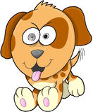 Crazy Puppy Dog Vector Royalty Free Stock Photo