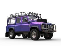 Crazy purple modern four wheel drive car Royalty Free Stock Image