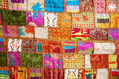 Crazy quilt Stock Images
