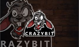 Crazy rabbit logo Esport game. Hello... I have a some references for your logo.I make a logo crazy rabbit Esport game. i hope you like my logo design.. if you Vector Illustration