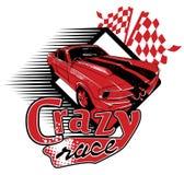 Crazy race. Red car finish a crazy race Royalty Free Stock Photos