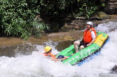 Crazy for rafting Stock Photography