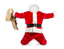 Crazy red white santa claus job done Stock Photos