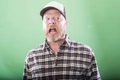 Crazy redneck man Royalty Free Stock Photo