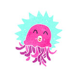 crazy retro cartoon jellyfish Royalty Free Stock Photography