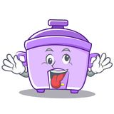 Crazy rice cooker character cartoon. Vector illustration Stock Images