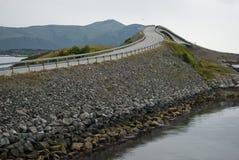 Crazy road. Famous landmark bridge on Atlantic road in Norway Royalty Free Stock Photos