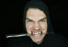 Crazy robber stock image
